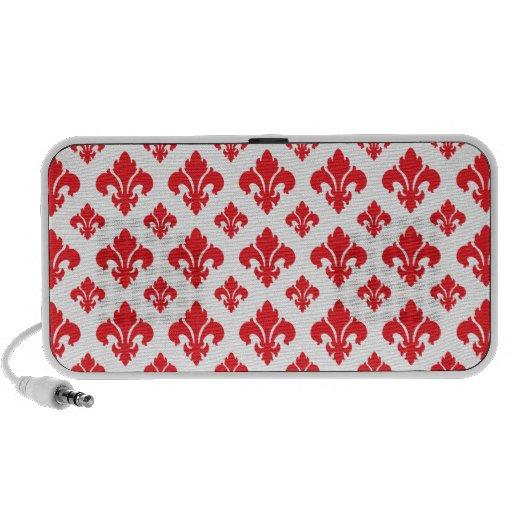 Vermelho da flor de lis 2 caixinha de som para notebook