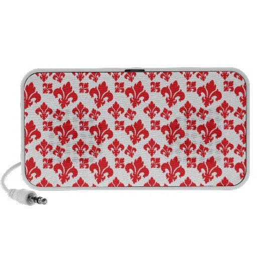 Vermelho da flor de lis 4 caixinha de som