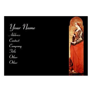 Vermelho da MARIA MADALENA do SANTO, ouro, papel Cartão De Visita Grande