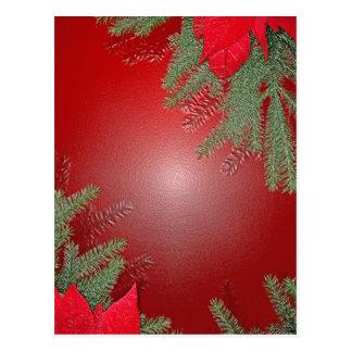 Vermelho da poinsétia do Natal Cartoes Postais
