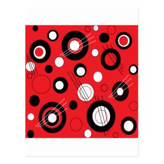 Vermelho da polca cartão postal