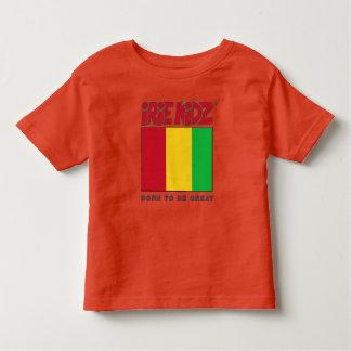 Vermelho de IRIE KIDZ®, ouro & t-shirt verde da