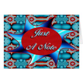 vermelho de turquesa apenas uma nota cartão comemorativo
