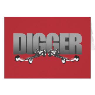 Vermelho dianteiro de Dragster do estilingue do Cartão
