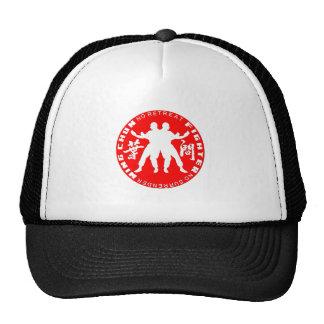 Vermelho do emblema do lutador de Chun da asa (Lin Boné