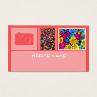 Vermelho do fotógrafo cartão de visitas