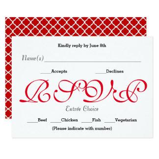 Vermelho do fundo - cartão da resposta da recepção