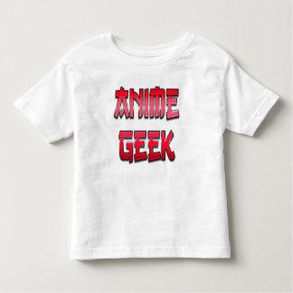 Vermelho do geek do Anime T-shirt