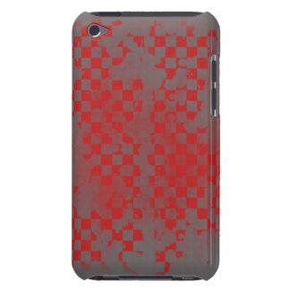 Vermelho do ipod touch no verificador cinzento capa para iPod touch