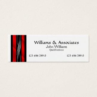Vermelho do monograma do advogado do advogado cartão de visitas mini