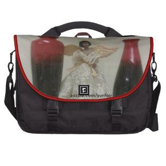  vermelho do saco da viagem ao trabalho do anjo mala para laptop