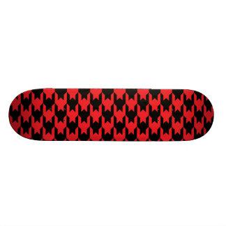 Vermelho do teste padrão 1 de Houndstooth Shape De Skate 18,4cm