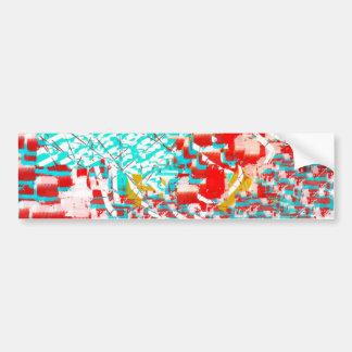 Vermelho e abstrato do Aqua Adesivo Para Carro