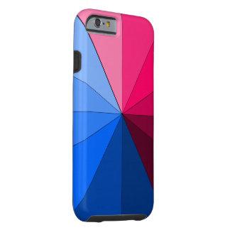 vermelho e azul capa tough para iPhone 6