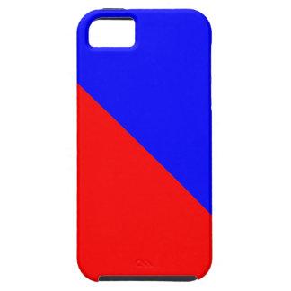 Vermelho e azul capa iPhone 5