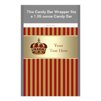 Vermelho e envoltório da barra de chocolate do prí flyer 13.97 x 21.59cm