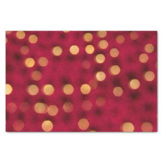 Vermelho e lenço de papel dos Sparkles do ouro