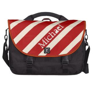 Vermelho e modelo do saco do laptop das listras do mochila para notebook