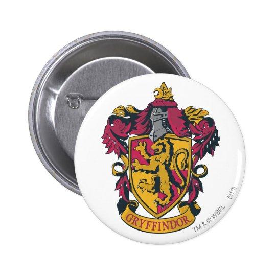 Vermelho e ouro da crista de Gryffindor Bóton Redondo 5.08cm
