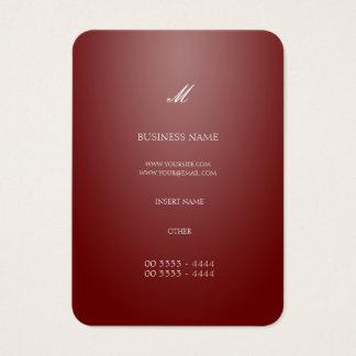 Vermelho elegante de Countrylane Cartão De Visita Grande
