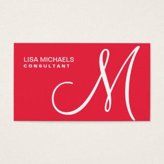 Vermelho elegante profissional do maquilhador do cartão de visitas