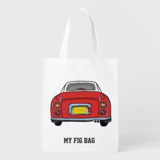 Vermelho especial de Nissan Figaro meu saco do Sacolas Reusáveis