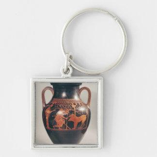 Vermelho-figura amphora do sótão da barriga chaveiros
