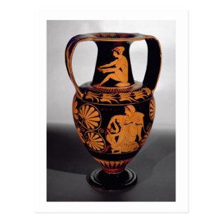Vermelho-figura amphora do sótão que descreve um cartão postal