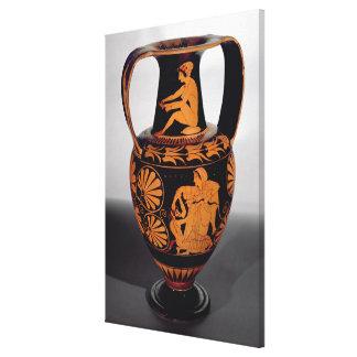 Vermelho-figura amphora do sótão que descreve um s impressão de canvas esticada