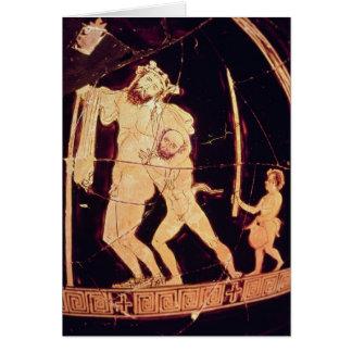 Vermelho-figura vaso do sótão cartão comemorativo
