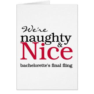 Vermelho final do Fling de Bachelorettes Cartão Comemorativo