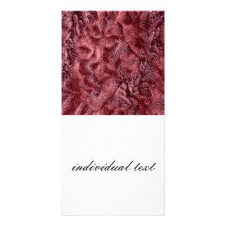 vermelho floral da fantasia 07 cartoes com foto