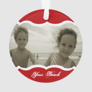 Vermelho gêmeo do ornamento da foto