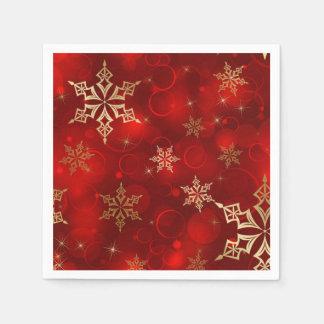 Vermelho & guardanapo do feriado do Natal dos