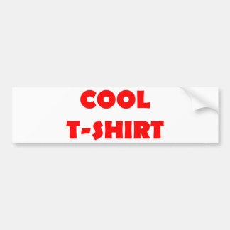 vermelho legal do t-shirt adesivo para carro
