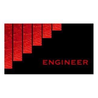 Vermelho moderno, engenheiro preto das listras cartão de visita