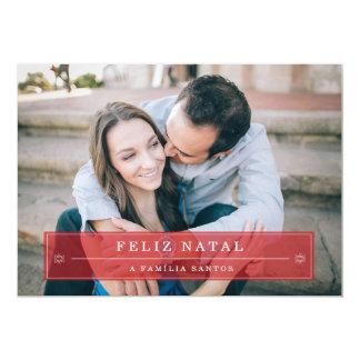 Vermelho natal Cartões de Fotografias Convite 12.7 X 17.78cm