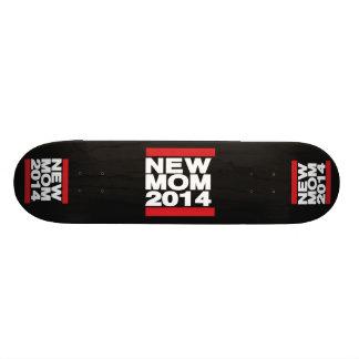 Vermelho novo da mamã 2014 shape de skate 21,6cm