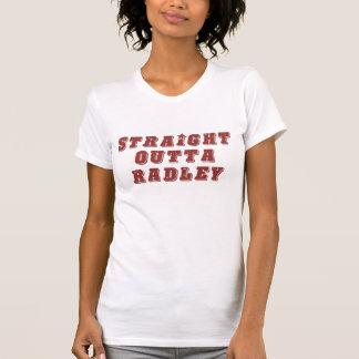 Vermelho reto do vintage de Outta Radley Tshirt