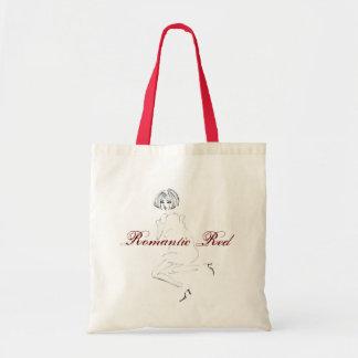 Vermelho romântico bolsa tote
