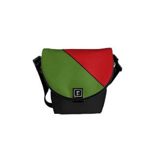 Vermelho saco do mensageiro de Green Black pelo Bolsas Mensageiro