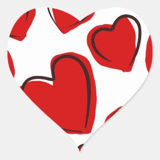 Vermelhos de Corações Adesivos De Corações