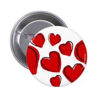 Vermelhos de Corações Botons