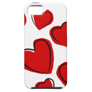 Vermelhos de Corações Capa De iPhone 5 Case-Mate