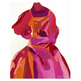 Vermelhos do outono do Fashionista da diva Esculturafotos