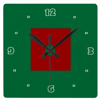 Vermelhos e verdes lisos >Kitchen o pulso de dispa Relógios Para Paredes