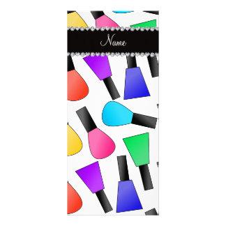 Verniz para as unhas branco conhecido planfetos informativos coloridos