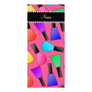 Verniz para as unhas cor-de-rosa conhecido planfeto informativo colorido