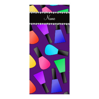 Verniz para as unhas roxo conhecido personalizado planfeto informativo colorido