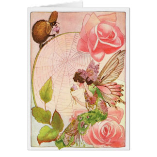 Verso doce nas fadas incluídas no cartão